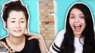 KATASTROPHE 😂- die HÄRTESTE Makeup Challenge - MAKEUP JENGA Runde 2! - unlikely