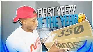 FIRST ADIDAS YEEZY 350 V2 OF 2019 w/ REVIEW + ON FEET ! THE BEST YEEZY 350 V2 ?