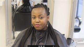 Ghana Braids styled at EbonyB