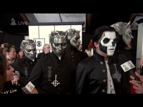 Ghost Red Carpet Appearance At The Grammys 2016