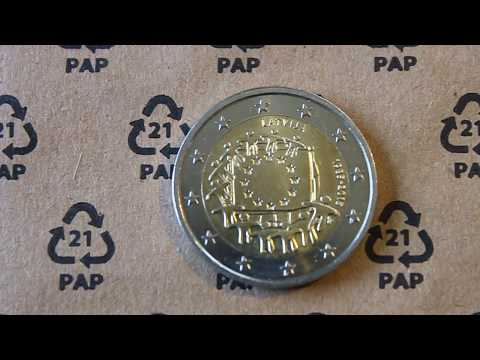 1,000,000 coins only, 2 Euro Latvia coin, 30th Anniversary of the EU flag video