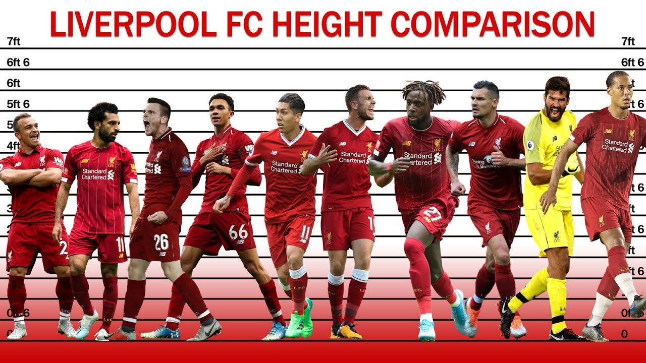 Liverpool Fc Height Comparison 2019 Youtube