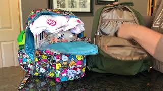 Ju Ju be olive rose be packed & hello friends mini be size comparison video!