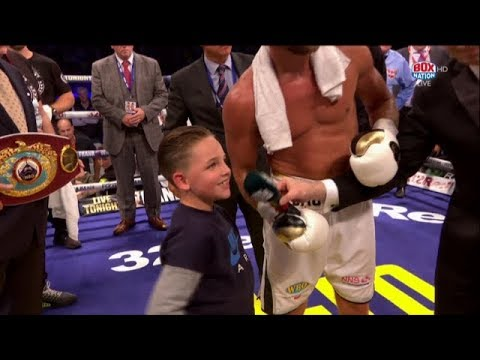 """""""Sorry for punching you in the nuts!"""" Billy Joe Saunders' son Stevie apologises to Willie Monroe Jr"""