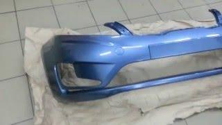 Новый бампер в цвет Киа Рио(Установка бампера производства Россия для Hyundai Solaris и Kia Rio., 2015-12-06T19:47:05.000Z)