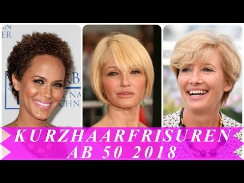 Schicke Kurzhaarfrisuren Fur Frauen Ab 50 2018 Youtube