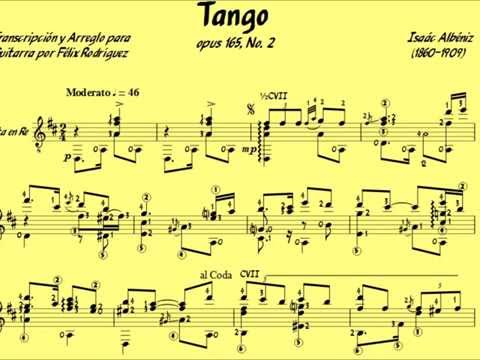 John Williams - Tango Opus 165, No. 2 Albéniz Music Score