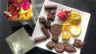 how to make chocolate at home in Hindi step by step recipe | homemade chocolate recipe in hindi