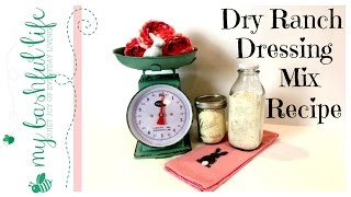 Dry Ranch Dressing Mix