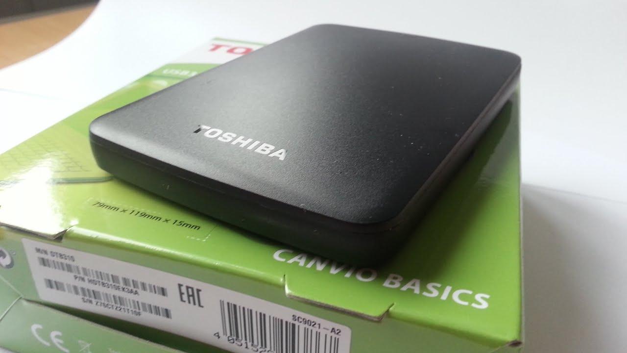 Toshiba Canvio Basics 1TB Portable External Hard Drive - YouTube