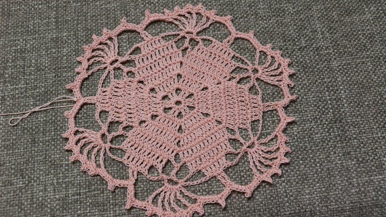 Flor para Blusa Crochet  YouTube