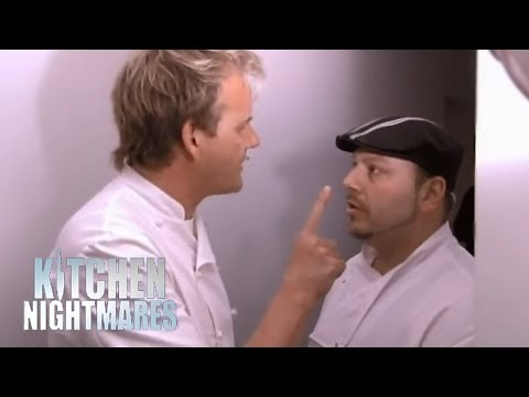 Gordon's Big Fight with Sebastian - Kitchen Nightmares
