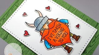 Avery Elle Viking Card Zig Clean Color Real Brush Markers AmyR Valentine Series 10