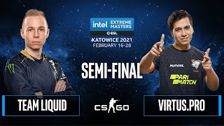 CS:GO - Team Liquid vs. Virtus.pro [Dust2] Map 1 - IEM Katowice 2021 - Semi-final