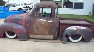 1954 Chevrolet Rat Rod pick up truck air bags Chevy bagged