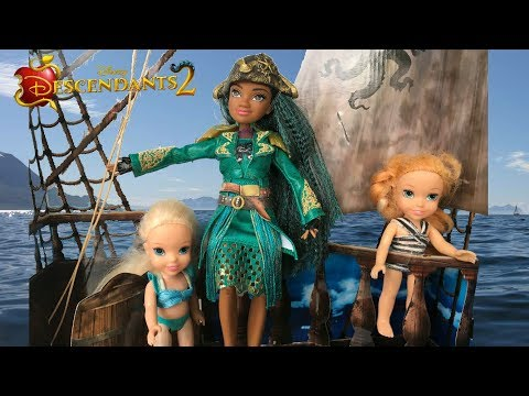 Uma Adventure Annia and Elsia Toddlers at Water Park #1 Ursula Barbie Chelsea Descendants 2 Pool