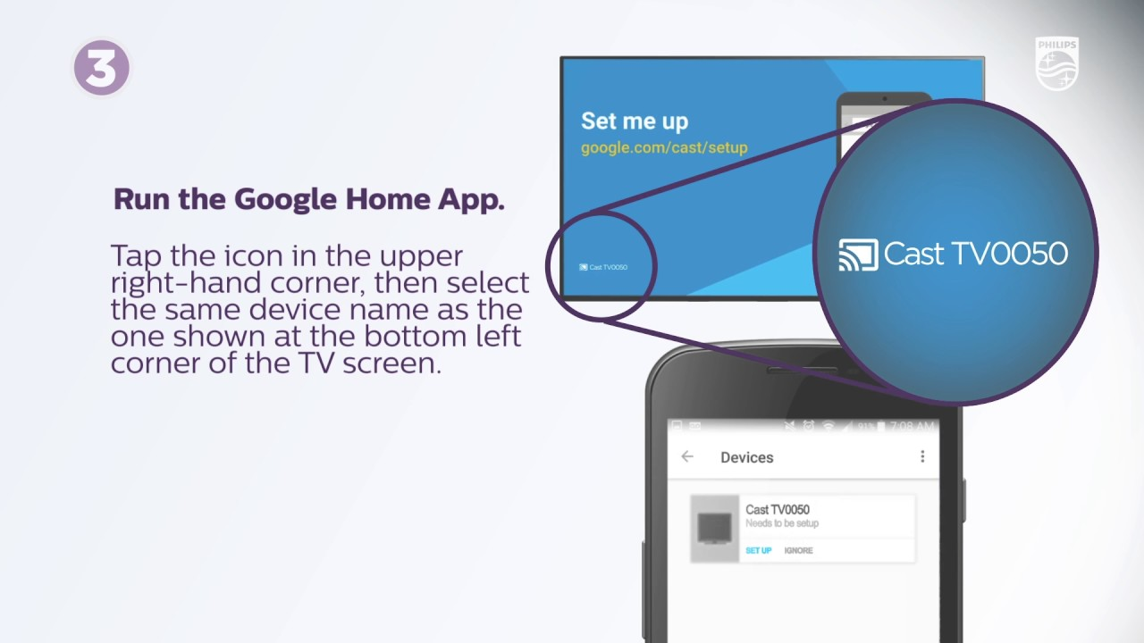 how to setup your philips google cast tv 2016 for first use [ 1280 x 720 Pixel ]