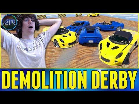 GTA 5 Online : DEMOLITION DERBY!!! (AR12 Crew vs AR12 Army)