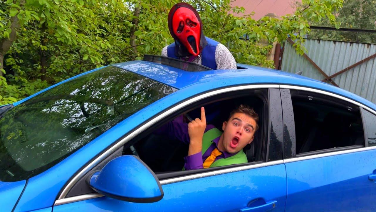 Mr. Joe on Lamborghini Got into Car VS Monster Mr. Joker on Opel OPC 13+