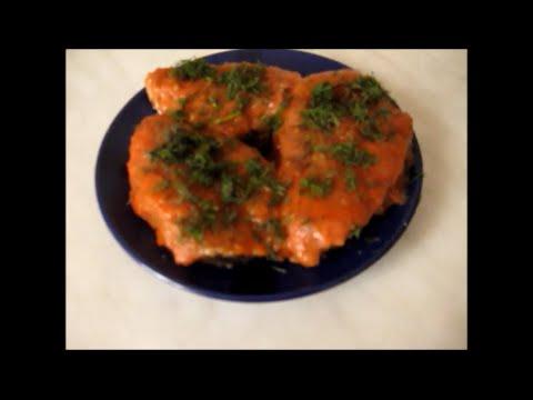 Жареная рыба в томатном соусе