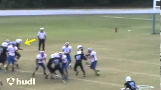 Dj Twitty big hit on qb 8th grade 2013 football