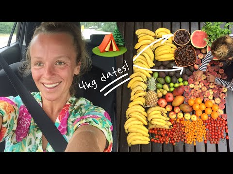 What I ate at my summer house ( Raw VEGAN / Fruitarian )