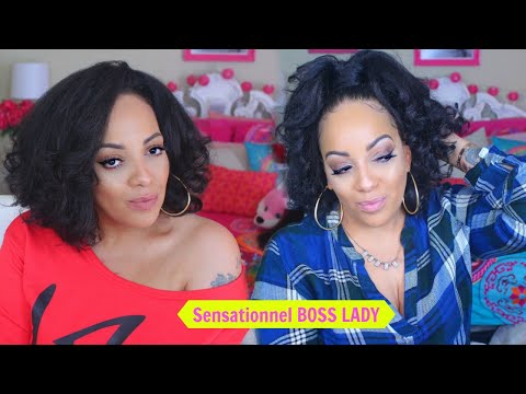 ONLY $16 SENSATIONNEL BOSS LADY TEXTURED HALF WIG ADULT & PRE-TEEN STYLES Samsbeauty.com