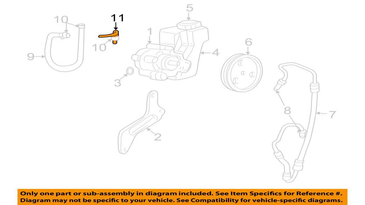 Genuine Chrysler 52088775ab Power Steering Return Hose Youtube Mercedes 3 5l Engine Diagram