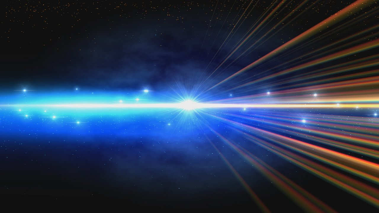 4k Rainbow Shining Space Rays Intro Darkness Uhd Hd Background