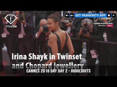 Irina Shayk in Highlights from the Cannes Film Festival 2018 Red Carpet on Day 2   FashionTV   FTV