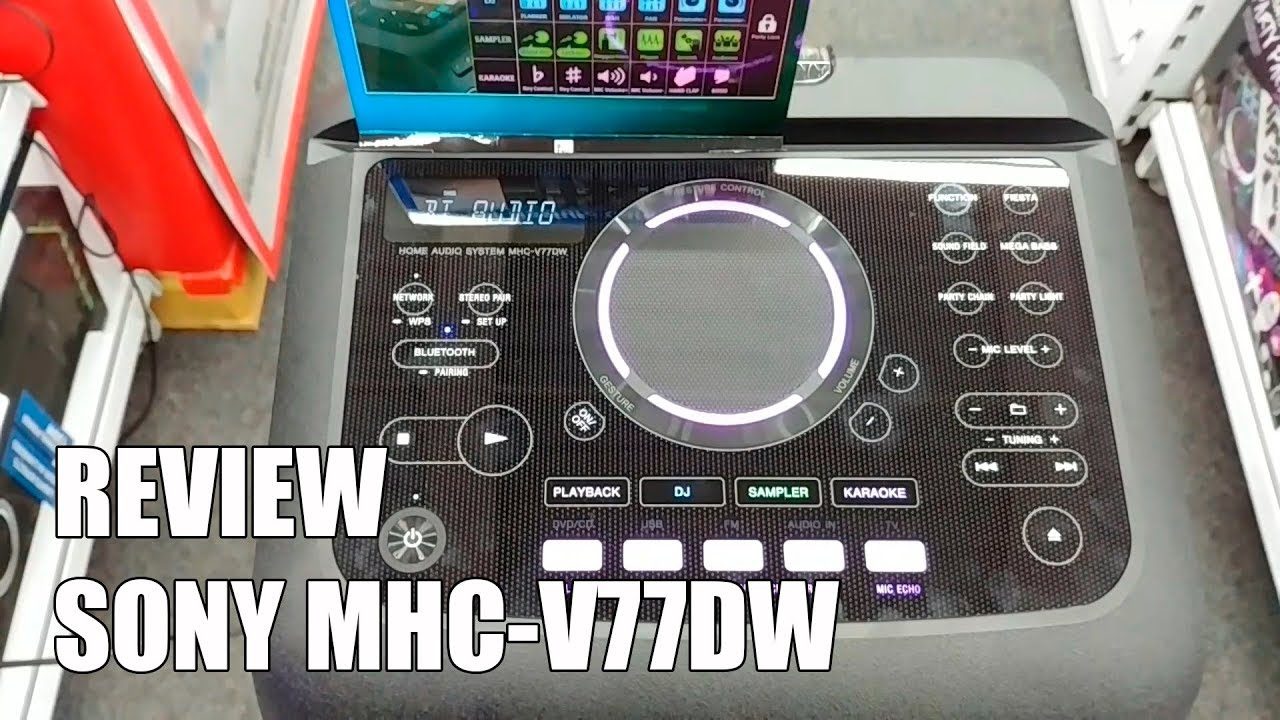 how to connect bluetooth mhc v77dw