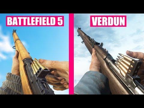 Battlefield 5 vs Verdun Weapons Comparison  