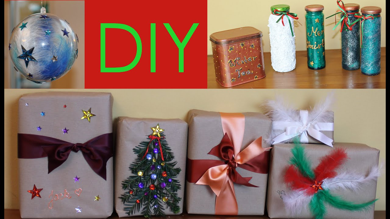 diy weihnachtsgeschenke originell verpacken weihnachten 2015 6 youtube. Black Bedroom Furniture Sets. Home Design Ideas