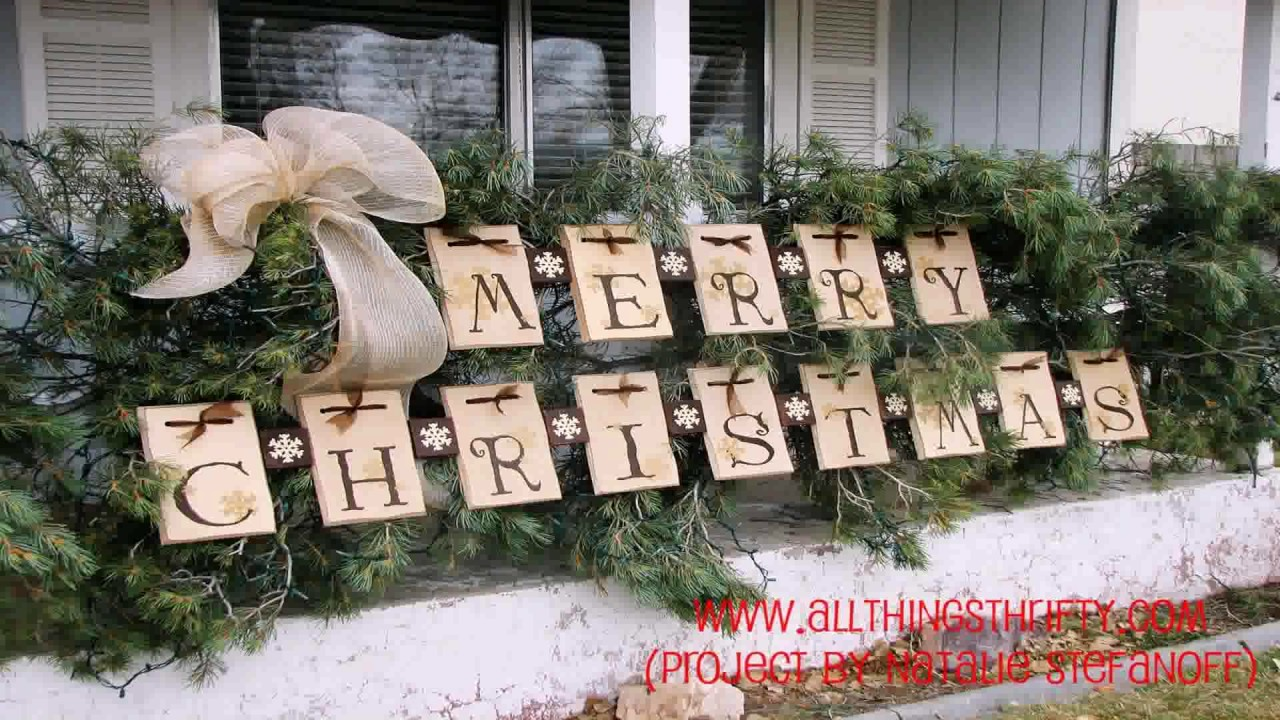 Homemade outdoor christmas decorations ideas youtube