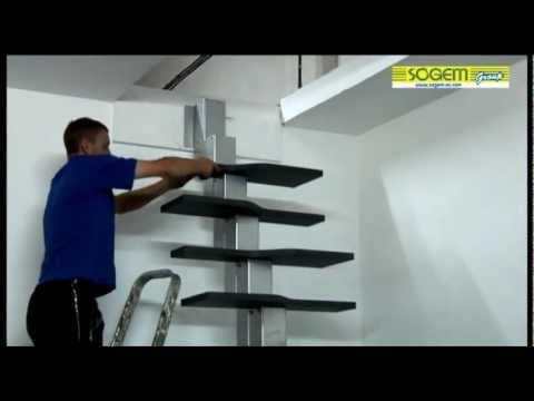 Montage D'Un Escalier Gain De Place En Kit Phoenix - Youtube
