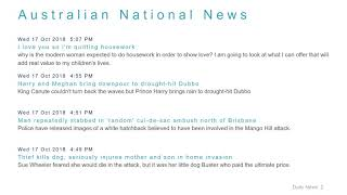 National News Headlines for 17 Oct 2018 - 6 PM Edition