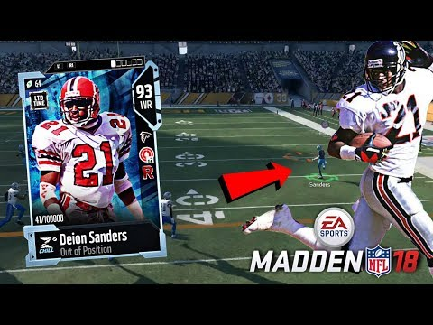 NEW LIMITED EDITION DEION SANDERS...ON OFFENSE!? Madden 18 Ultimate Team