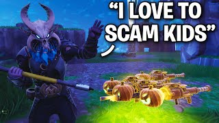 I met a hardcore PRO Scammer!! 😱😞 (Scammer Get Scammed) Fortnite Save The World