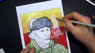 Coloring Book Art Van Gogh Self Portrait