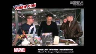 Tom Hiddleston and Chris Evans at NYCC