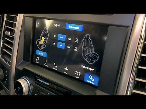 Massaging Heated and Cooled Ford F-150 Seats