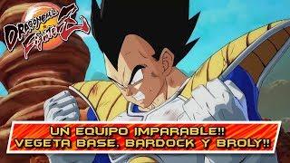 UN EQUIPO IMPARABLE!! COMBATES CON VEGETA BASE, BARDOCK Y BROLY!! Dragon Ball FighterZ: Online