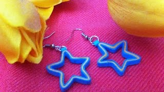 Quilling earrings- star design