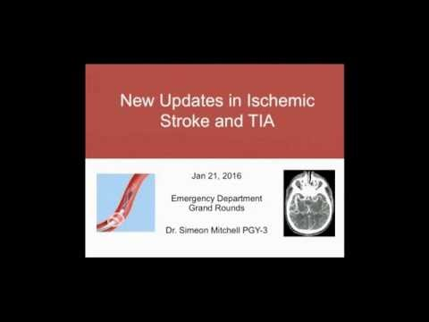 New Updates in Ischemic Stroke and TIA