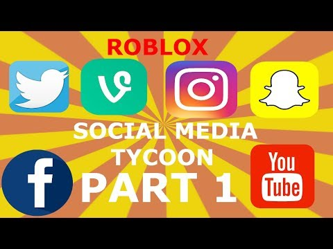 ROBLOX SOCIAL MEDIA TYCOON (PART 1) SOMETHING WENT WRONG