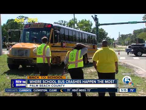 Palm Beach County School Buses Involved In 300 Crashes Since 2016