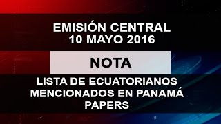 LISTA DE ECUATORIANOS MENCIONADOS EN PANAMÁ PAPERS