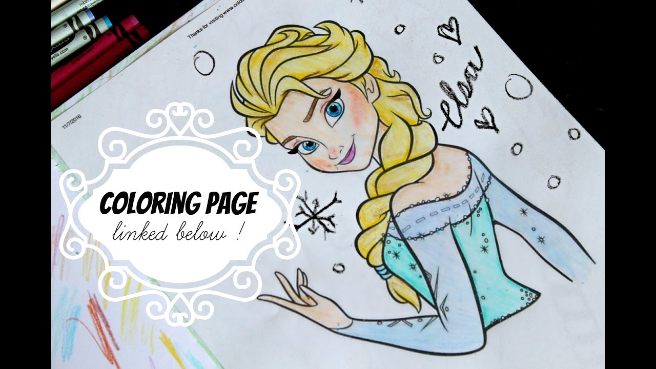 Coloring pages queen elsa - Frozen Queen Elsa Coloring Page Drawing Crayons Art For Kids Tutorial Toybubble