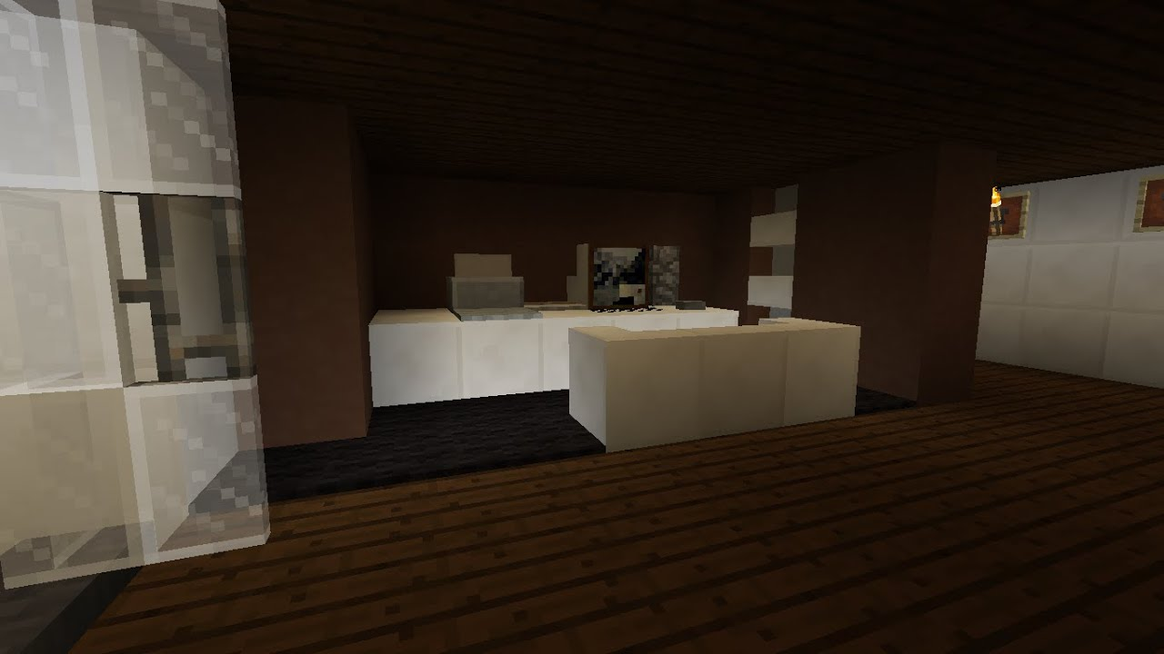 Tuto comment faire un bureau dans minecraft youtube