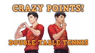 Table Tennis Double Best CRAZY POINTS